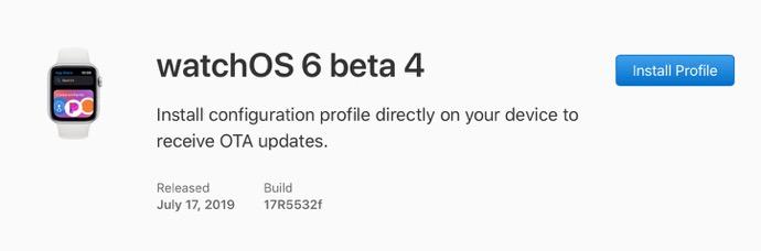 WatchOS 6 beta 4 00001 z