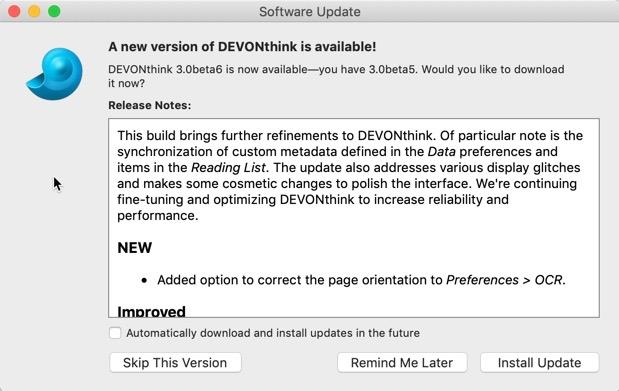 DEVONthink 3 0 Public Beta 6 00001 z