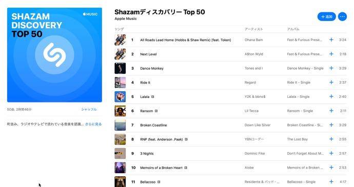Apple Music、新進アーティストに焦点を当てた「Shazam Discovery」チャートを発表