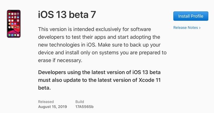 IOS 13 beta 7 00001 z
