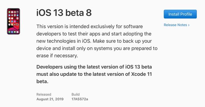 IOS 13 beta 8 00001 z