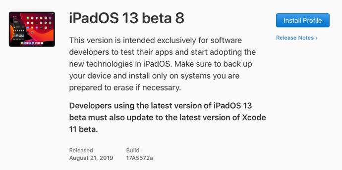IPadOS 13 beta 8 00001 z