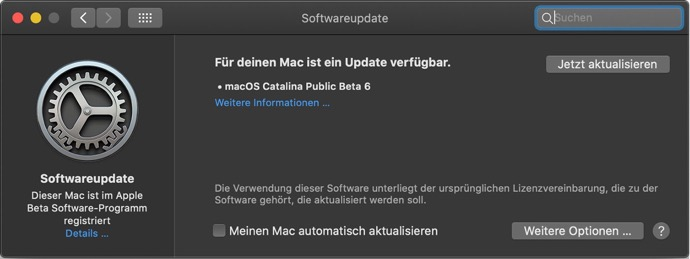 MacOS Catalina 10 15 beta 7 00010 z