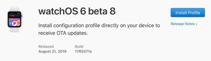 WatchOS 6 beta 8 00001 z