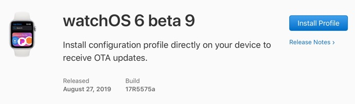 WatchOS 6 beta 9 00001 z