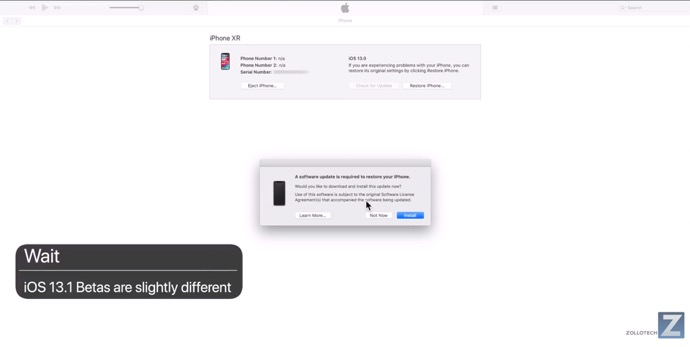 iOS 13 Beta 8またはiOS 13.1 Betasから「iOS 13 GM Seed (17A577)」をインストールする方法
