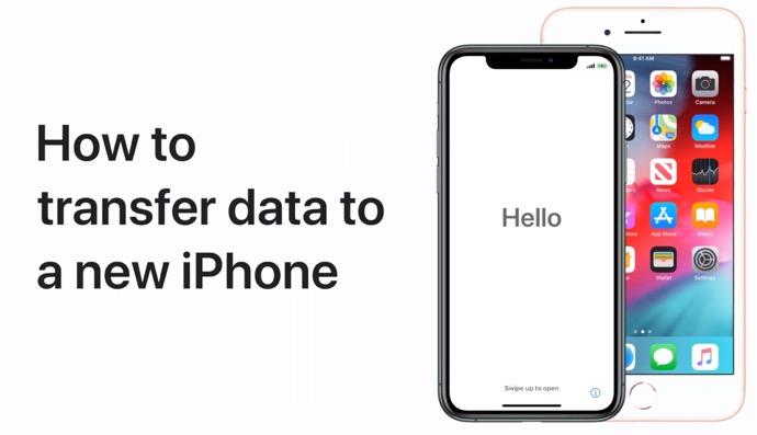 Apple Support、以前のiPhoneから新しいiPhoneにデータを転送する方法のハウツービデオを公開
