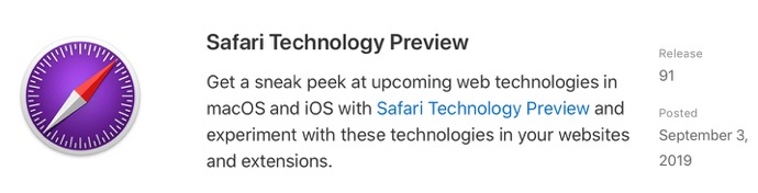 Safari Technology Preview 91 00001 z