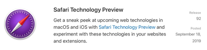 Safari Technology Preview 92 00001 z