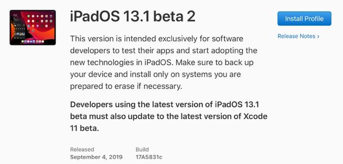 IPadOS 13 1 beta 2 00001 z