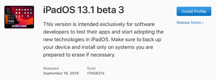 IPadOS 13 1 beta 3 00001 z
