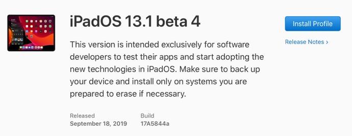 IPadOS 13 1 beta 4 00001 z