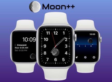【Apple Watch】今いる場所で、現在の月がどのように見えるかを視覚的に表示「Moon++」