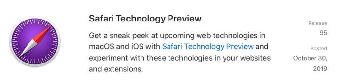 Safari Technology Preview 95 00001 z