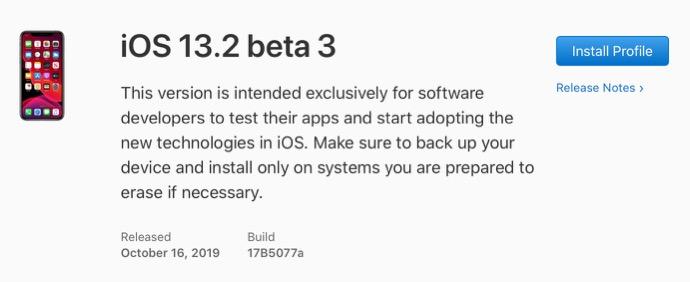 IOS 13 2 beta 3 00001 z