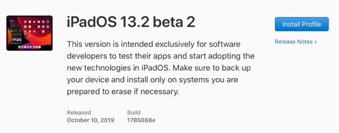 IPadOS 13 2 beta 2 00001 z