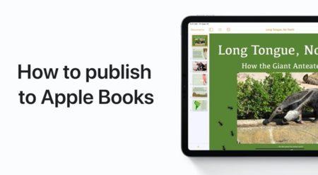 Apple Support、iPhone、iPadのPagesからApple Booksに公開する方法のハウツービデオを公開