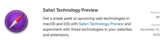 Safari Technology Preview 96 00001 z