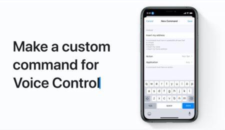 Apple Support、音声コントロールでカスタムコマンドを作成する方法のハウツービデオを公開