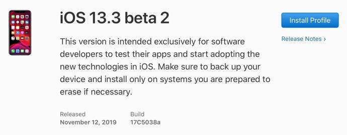 IOS 13 3 beta 2 00001 z
