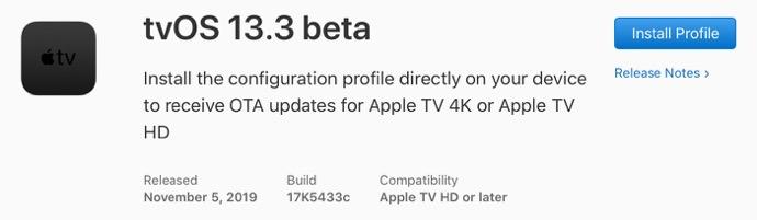 TvOS 13 3 beta 00001 z