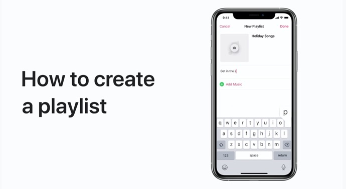 Apple Support、iPhoneおよびiPadのMusicでプレイリストを作成して共有する方法のハウツービデオを公開
