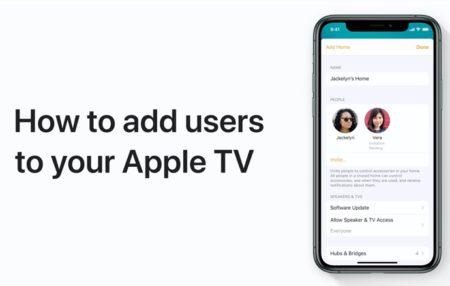 Apple Support、iPhoneおよびiPadのホームアプリからApple TVにユーザーを追加する方法のハウツービデオを公開