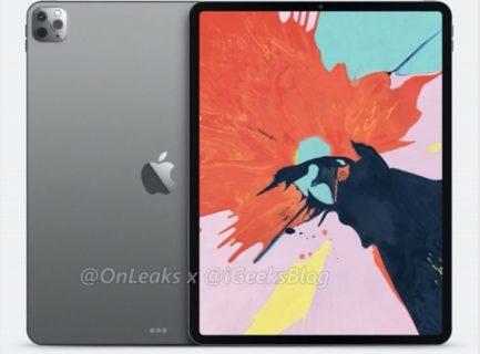 iPad Pro 2020のトリプルレンズカメラを搭載したレンダリング画像が公開される