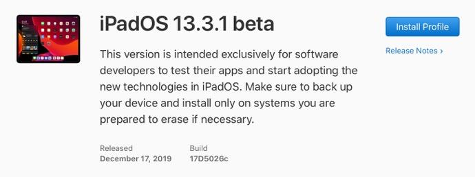 IPadOS 13 3 1 beta 00001 z