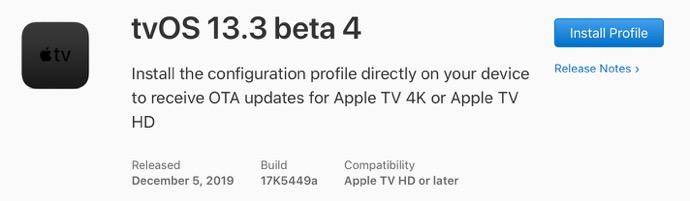 TvOS 13 3 beta 4 00001 z