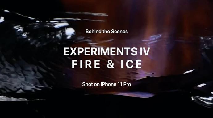 Apple、Shot on iPhoneシリーズの「Experiments IV: Fire & Ice」とその舞台裏のビデオを公開