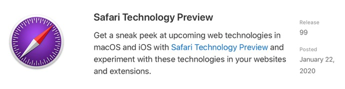 Safari Technology Preview 99 00001 z