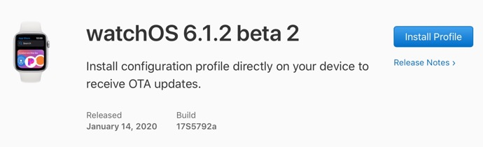 WatchOS 6 1 2 beta 2 00001 z