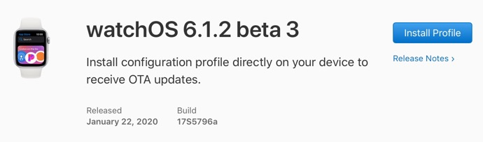 WatchOS 6 1 2 beta 3 00001 z