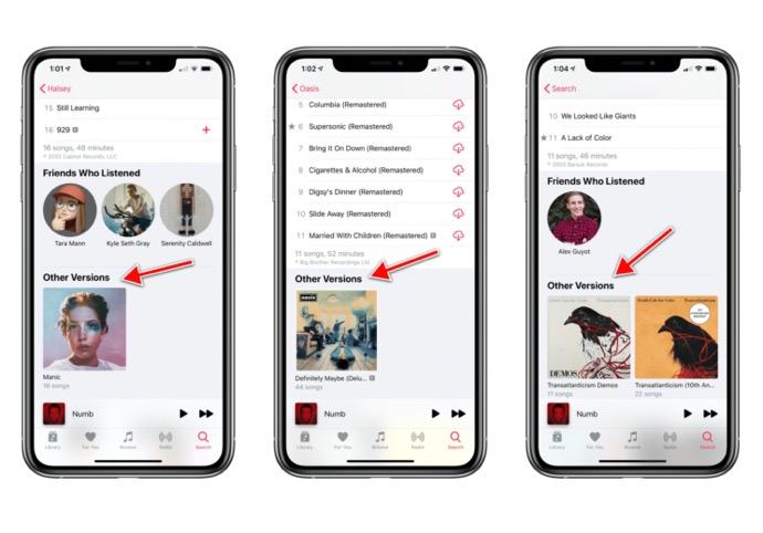 Apple Musicでお気に入りのアルバムの代替バージョンを簡単に見つけられるようになる