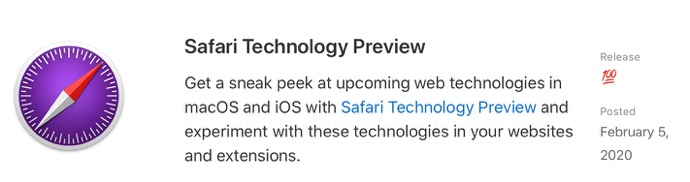 Safari Technology Preview 100 00001 z