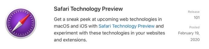 Safari Technology Preview 101 00001 z