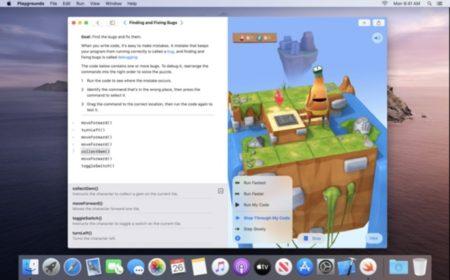 Apple、教育用コーディングアプリ「Swift Playgrounds for Mac」をリリース