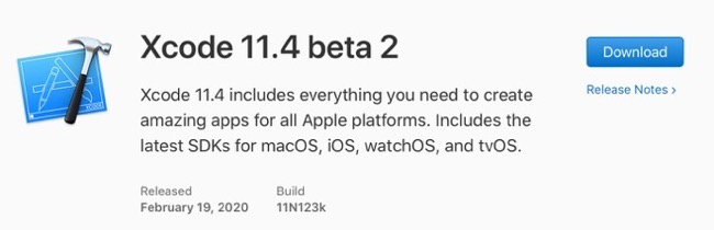 Xcode 11 4 beta 2 00001 z