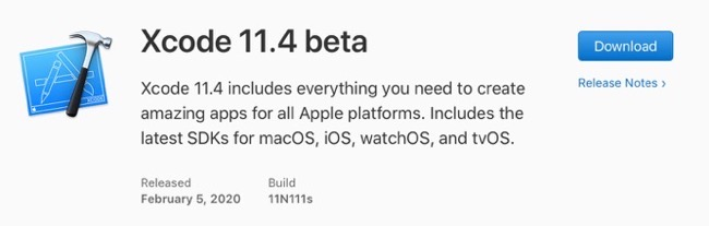 Xcode 11 4 beta 00001 z