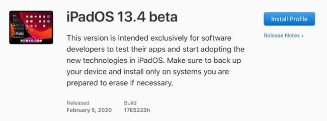 IPadOS 13 4 beta 00001 z