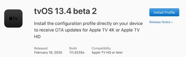 TvOS 13 4 beta 2 00001 z