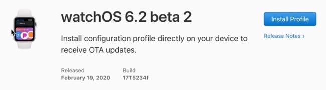 WatchOS 6 2 beta 2 00001 z