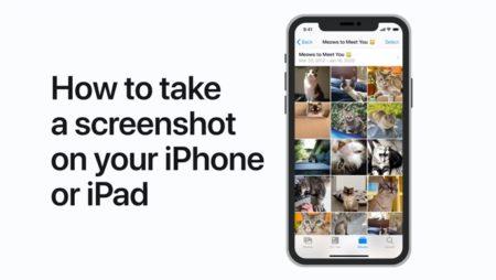 Apple Support、iPhoneまたはiPadでスクリーンショットを撮る方法のハウツービデオを公開