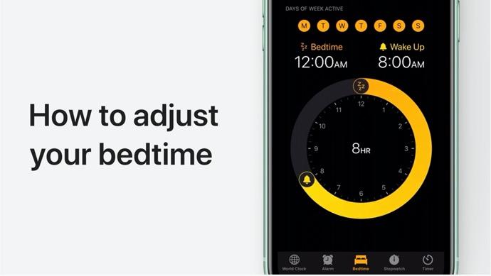 Apple Support、iPhone、iPad、の時計アプリで就寝時間を設定する方法のハウツービデオを公開