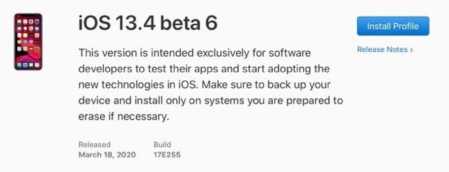 IOS 13 4 beta 6 00001 z