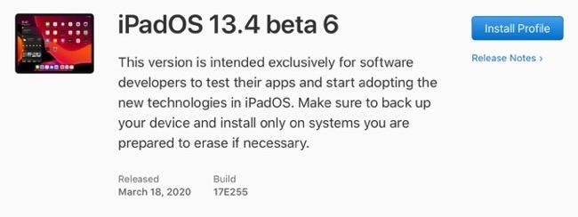 IPadOS 13 4 beta 6 00001 z