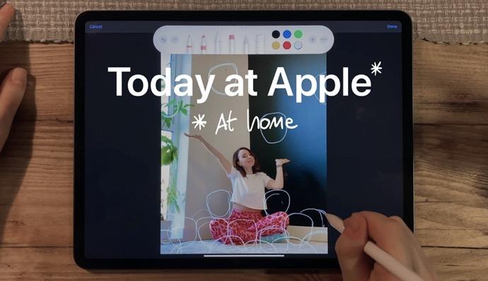 Apple、クリエイティブなプロと共に「Today at Apple(at Home)」セグメントを発表