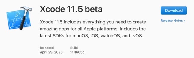 Xcode 11 5 beta 00001 z