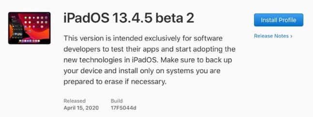 IPadOS 13 4 5 beta 2 00001 z